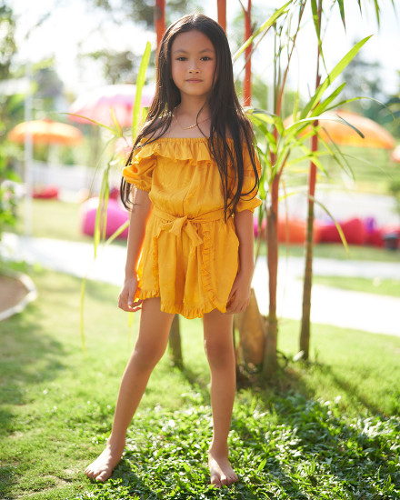 SOPHIA ROMPER IN YELLOW