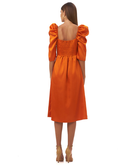 AGNELLA DRESS IN TANGERINE