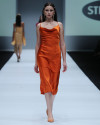 FRANCESSCA DRESS IN TANGERINE