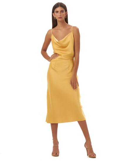 FRANCESSCA DRESS IN GOLD