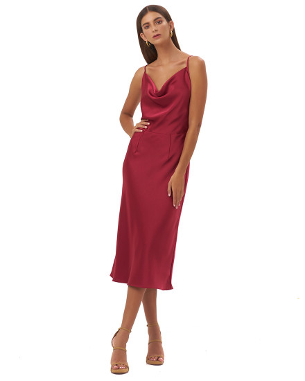 FRANCESSCA DRESS IN MAROON
