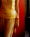 LAVINIA DRESS IN GOLD