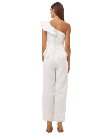 ALESSANDRA JUMPSUIT IN WHITE