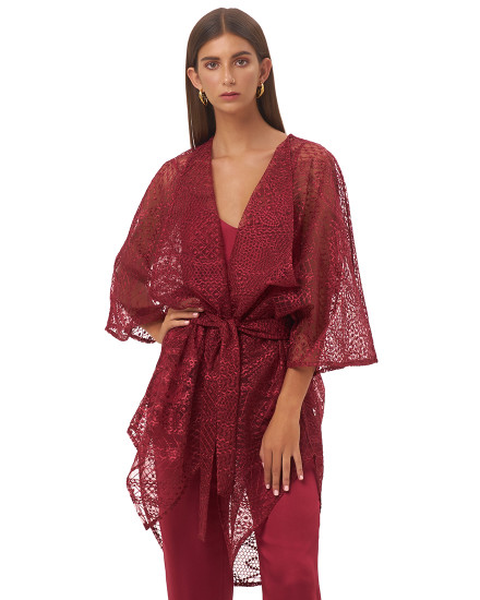 ALESSIA OUTER IN MAROON