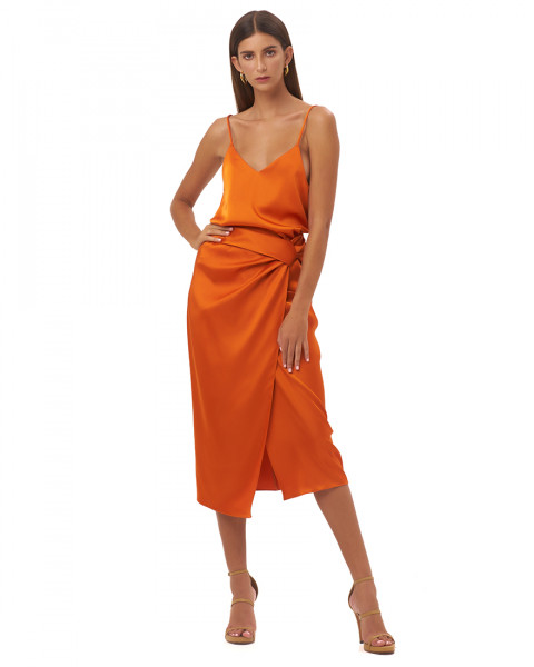 MARSILIA SKIRT IN TANGERINE