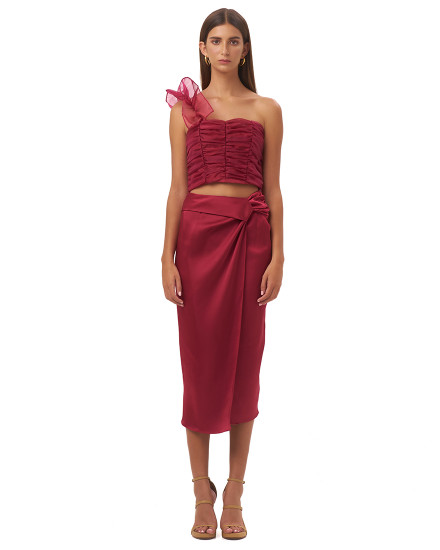 MARSILIA SKIRT IN MAROON
