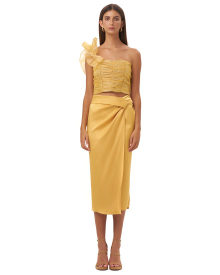 MARSILIA SKIRT IN GOLD