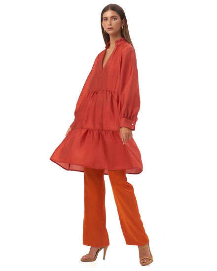 ISABETTA TOP IN BURNT ORANGE