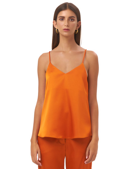 SOFIA TOP IN TANGERINE