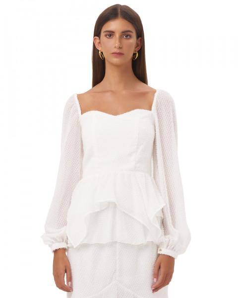 CICILIA TOP IN WHITE