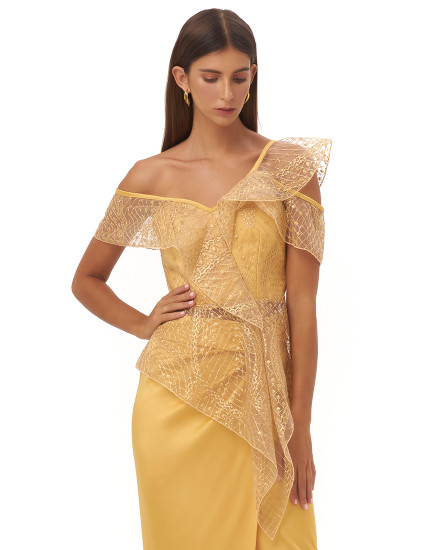 GILIA TOP IN GOLD