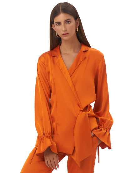 MASINA OUTER TOP IN TANGERINE