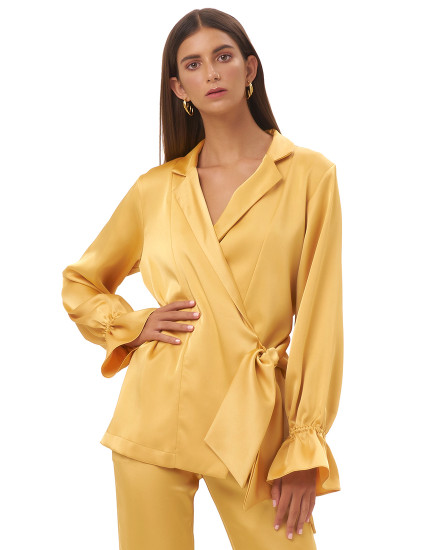 MASINA OUTER TOP IN GOLD