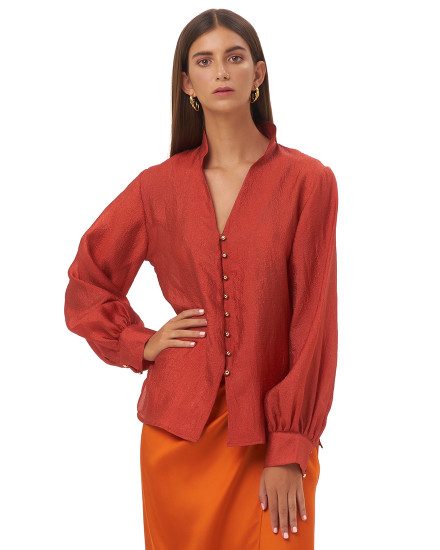 LUCIA TOP IN BURNT ORANGE