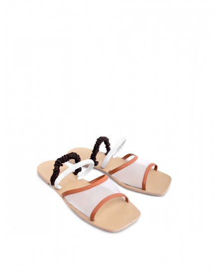 Glee Sandals in Orange
