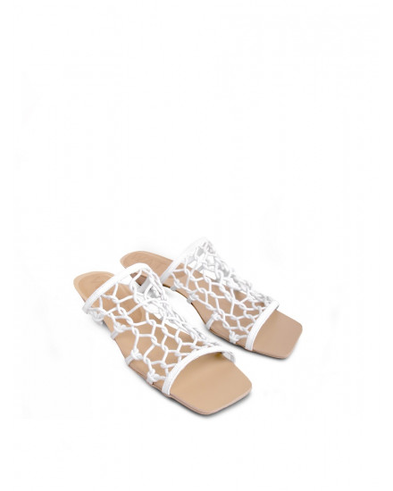 Zion Sandals in White