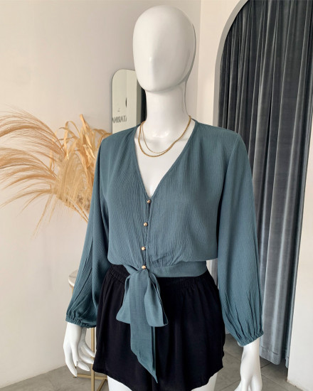 NEZIM TOP IN TEAL