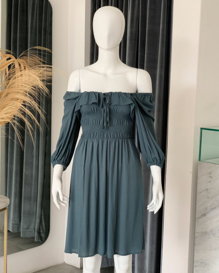 ASYA DRESS IN TEAL
