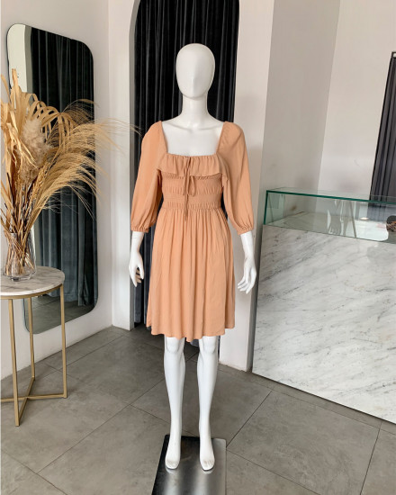 ASYA DRESS IN GINGER ROOT