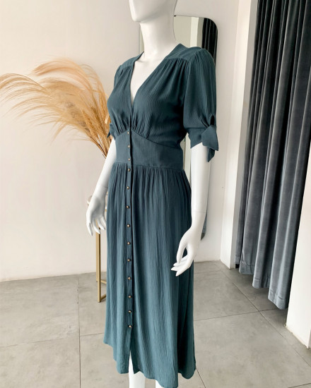 THEODORA DRESS IN TEAL