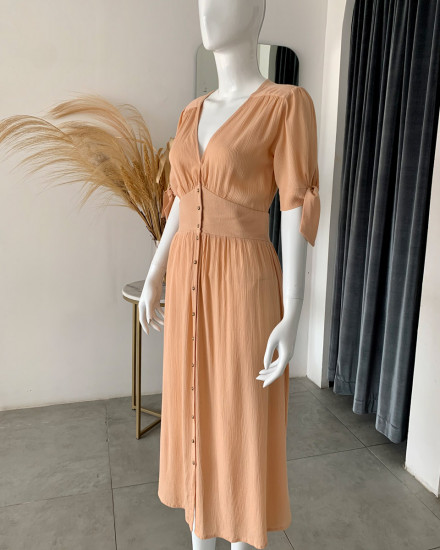 THEODORA DRESS IN GINGER ROOT