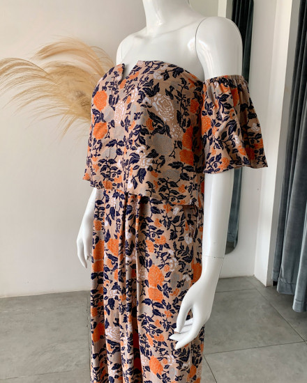 DILARA JUMPSUIT IN FLORAL ROSE NAVY