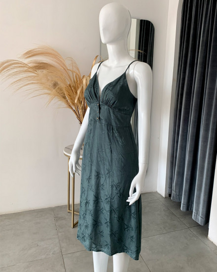 OZLEM DRESS IN TEAL