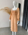 AYLIN DRESS IN GINGER ROOT