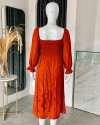 AYLIN DRESS IN TERRACOTTA