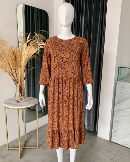 NERMIN DRESS IN TERRACOTTA DOT