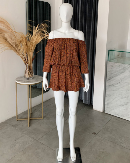 SIRIN ROMPER IN TERRACOTTA DOT