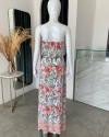 THIRA DRESS IN FLORAL ROSE MANDARIN