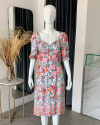 SEVIL DRESS IN FLORAL ROSE MANDARIN