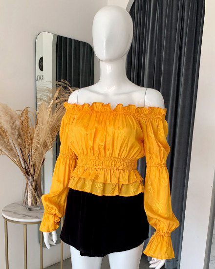 SELMA TOP IN YELLOW