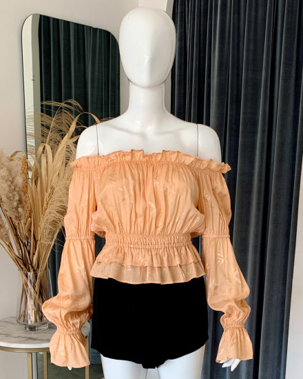 SELMA TOP IN GINGER ROOT