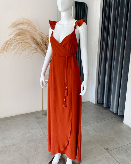 THALASSA DRESS IN TERRACOTTA