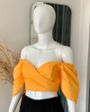 GAIL TOP IN APRICOT