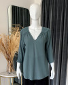 IREM TOP IN TEAL