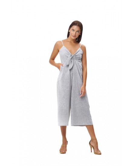 ARTEMIS JUMPSUIT IN LINEN GREY