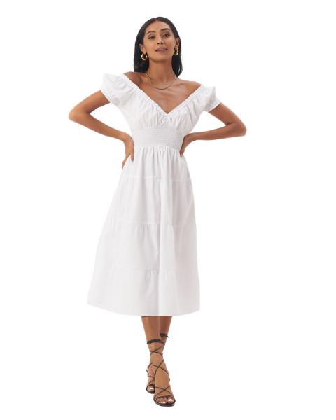 Ellerie Dress in White