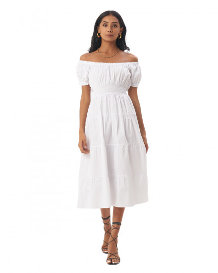 Ellerie Dress in White