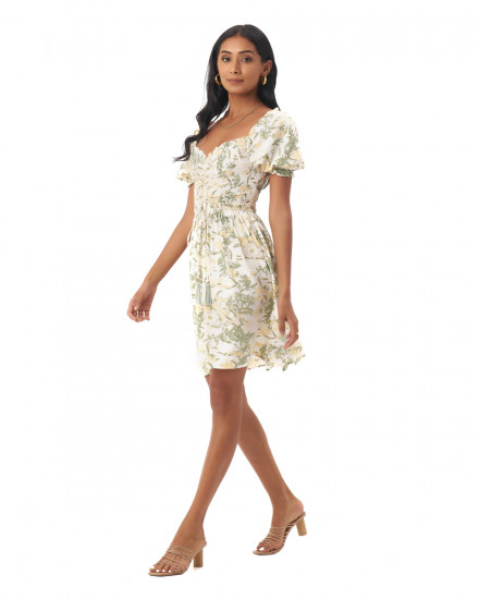 Dara dress in Isadora Floral Sage