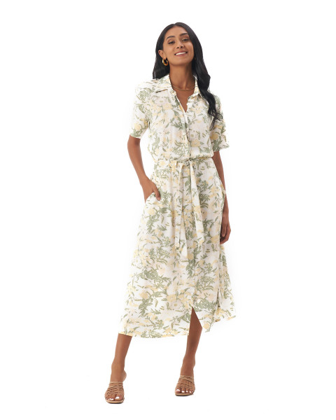 Fleur Dress in Isadora Floral Sage