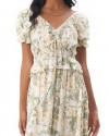 Cindy Dress in Isadora Floral Sage