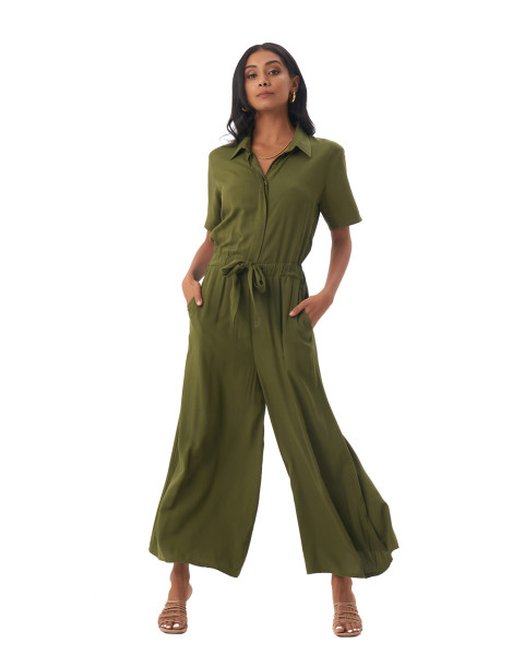Melissa Jumpsuit in Olive