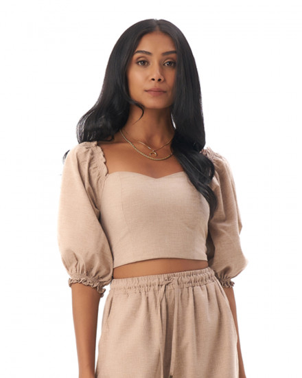 Adley Top in Linen Rose Brown