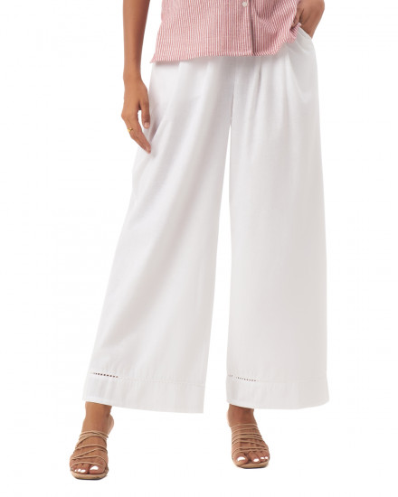 Tiana Pants in Linen White