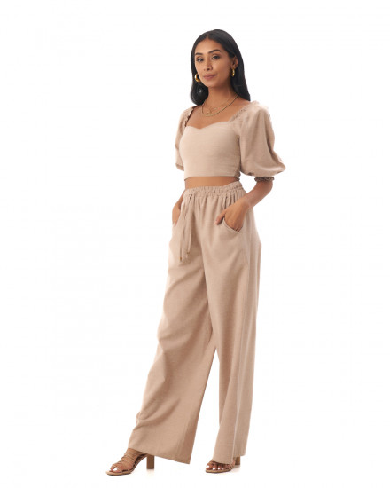 Nova Pants in Linen Rose Brown