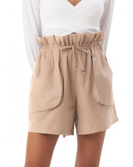 Zuri Shorts in Linen Rose Brown