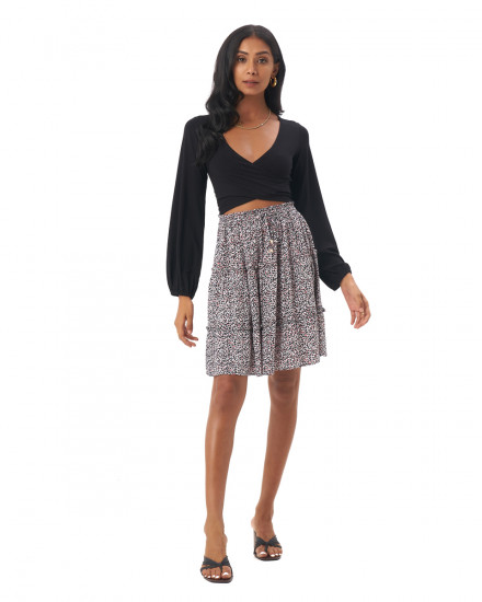 Lilo Skirt in Amba Floral Black